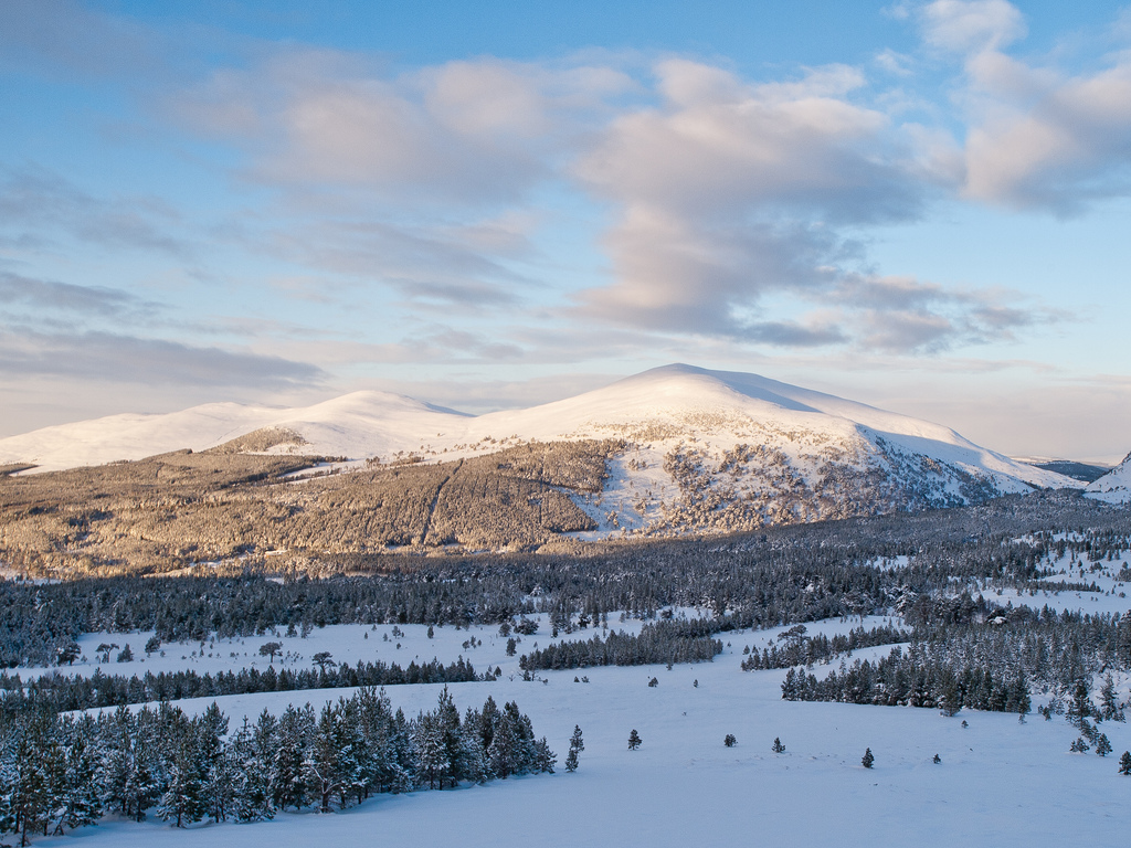The snowy slopes of the Cairngorms are among the top winter travel destinations in the UK